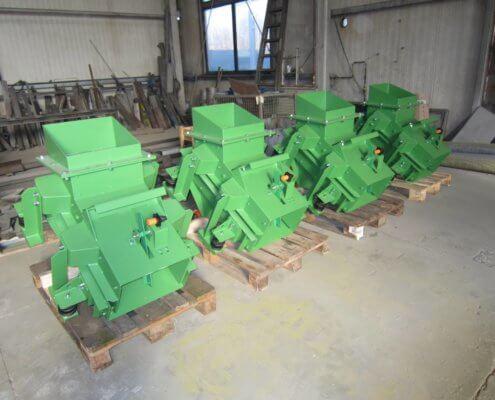 Bunkerabzugsrinnen - Fördertechnik - Recycling Anlagenbau